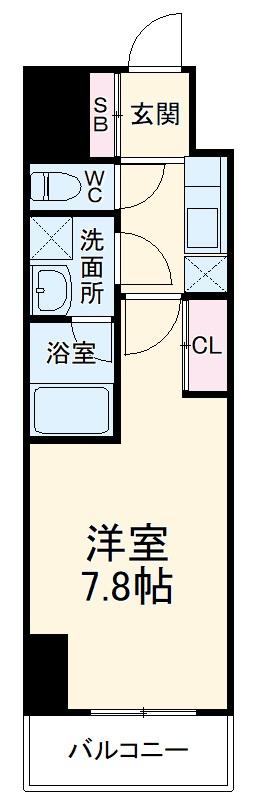 City Lux Yokohama・305号室の間取り