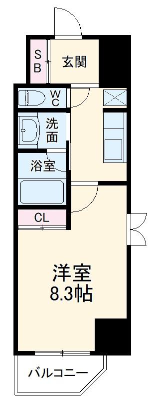City Lux Yokohama・206号室の間取り