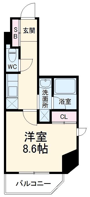 City Lux Yokohama・212号室の間取り