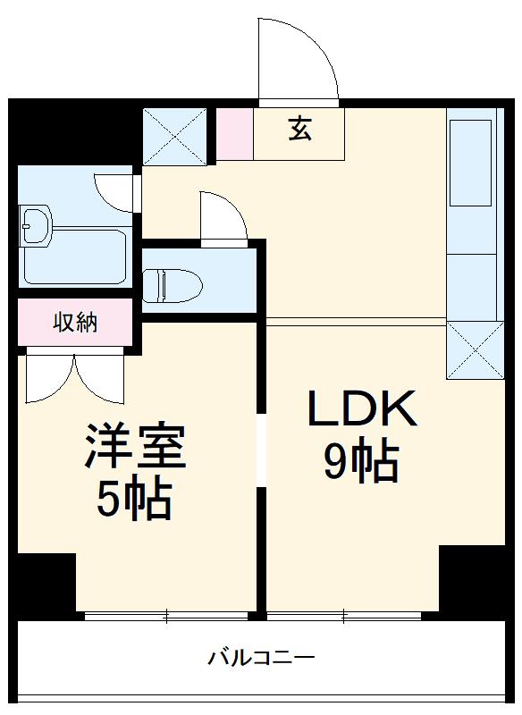 横浜三吉町第4レッツビル・305号室の間取り