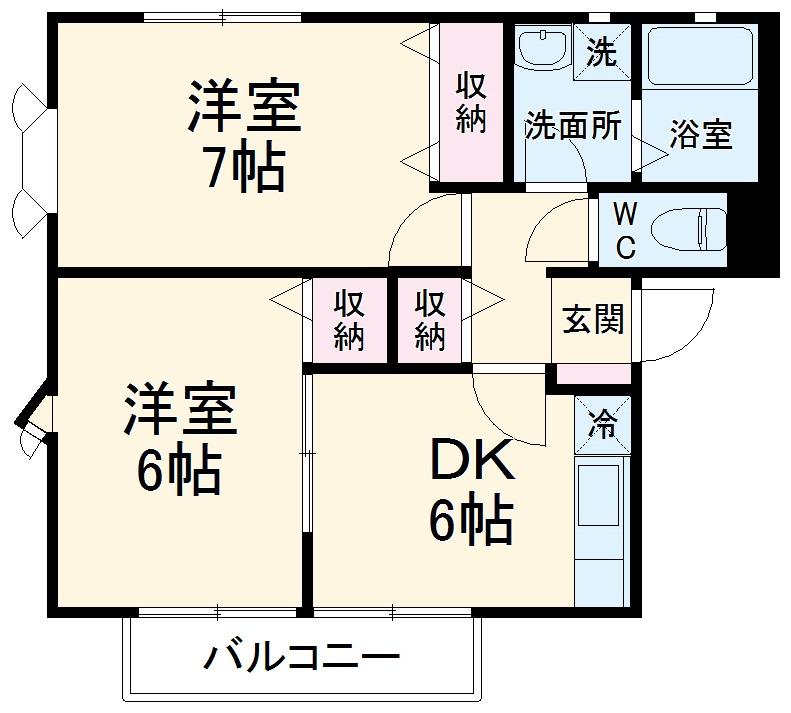 セラ岡村・A101号室の間取り