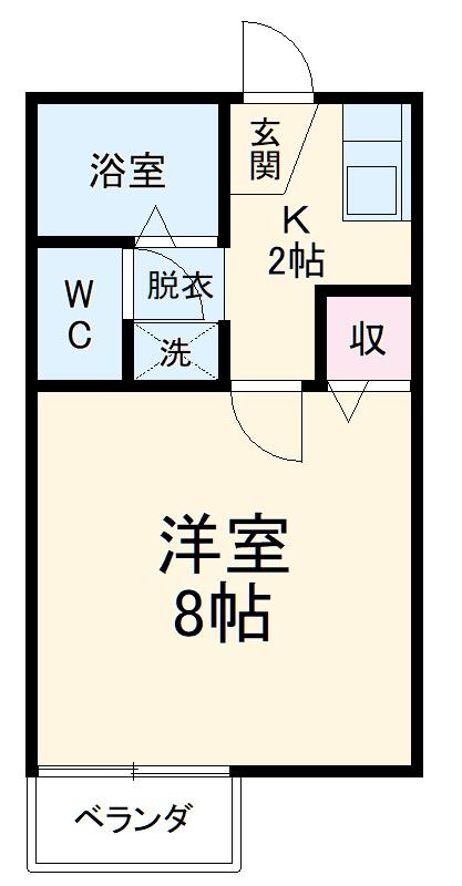 サニーコート伊藤 2-E号室の間取り