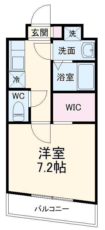 櫻 107号室の間取り