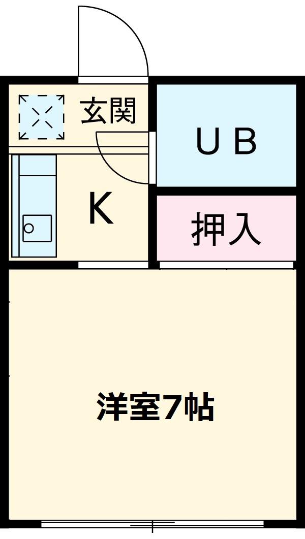 的場アパート平塚・203号室の間取り