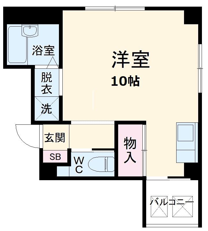 TOWA-HOUSE・401号室の間取り