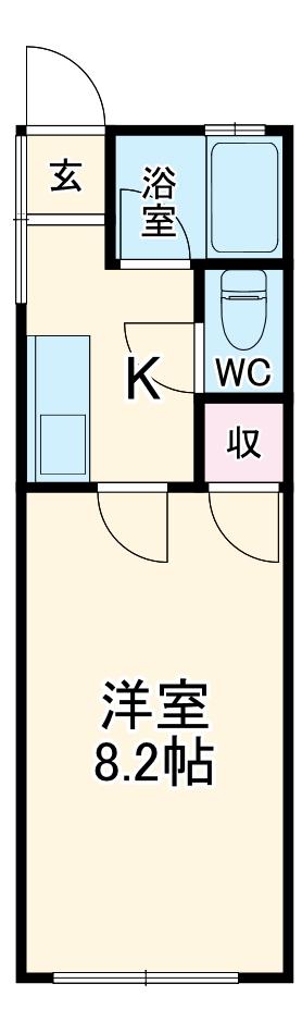 望栄荘 102号室の間取り