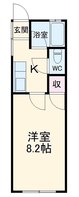 望栄荘 105号室の間取り