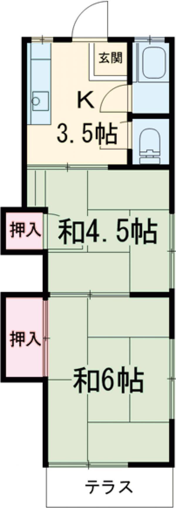 ひかり荘A・201号室の間取り