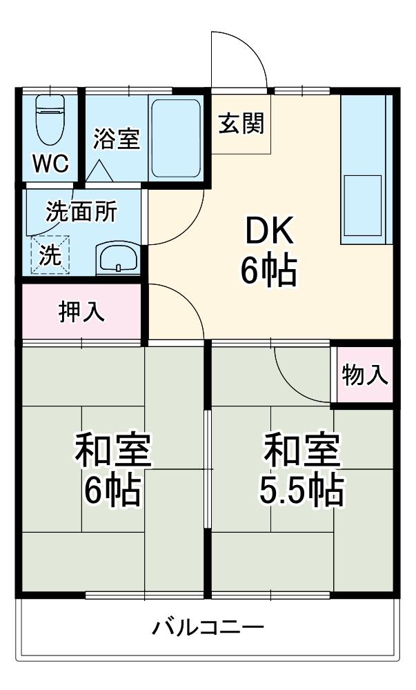 桜ヶ丘コーポ 203号室の間取り