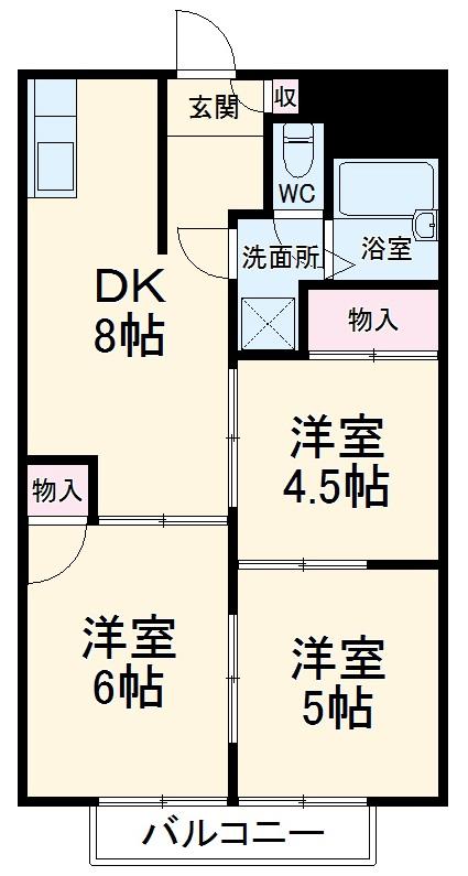 レジデンス小澤ハイツ・303号室の間取り