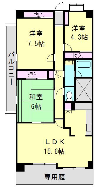 フォレスト早稲田・306号室の間取り