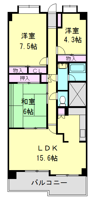 フォレスト早稲田・305号室の間取り