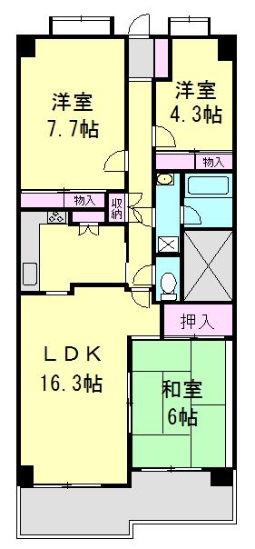 フォレスト早稲田・402号室の間取り