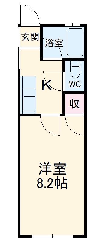 望栄荘・203号室の間取り