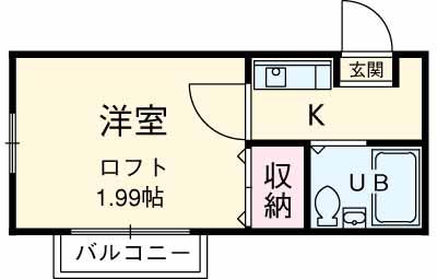 シャルマンフジ湘南壱番館・205号室の間取り