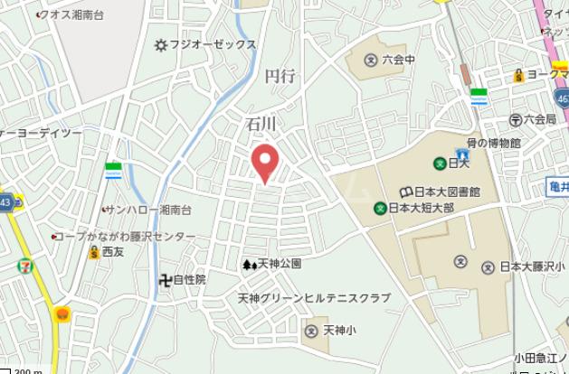 オーパス湘南 304号室の地図