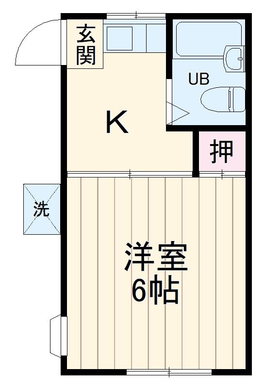 富士見台ハイツ 201号室の間取り