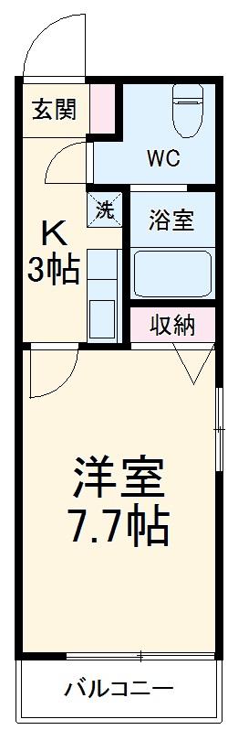 ミラージュ湘南Ⅰ・203号室の間取り