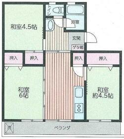 グリーンハイム渋沢・304号室の間取り