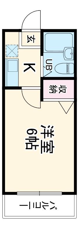 第3山田ハイツ 1-D号室の間取り