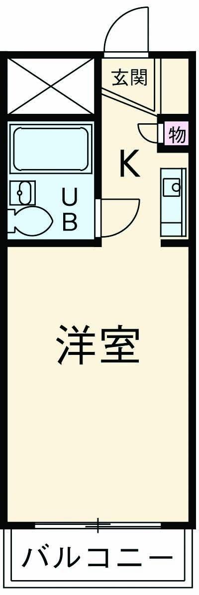 厚木ユースハイム 101号室間取り図