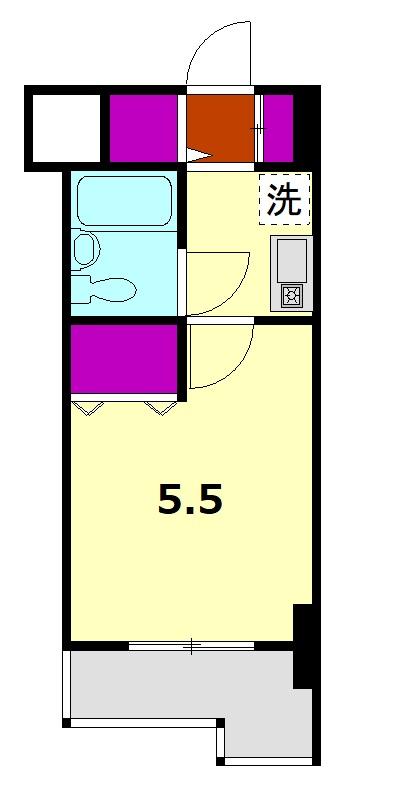 ライオンズマンション本厚木第3 508号室の間取り