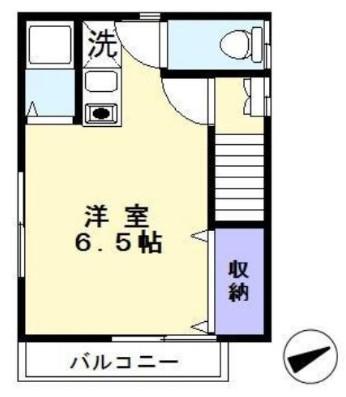 コーポ松戸・201号室の間取り