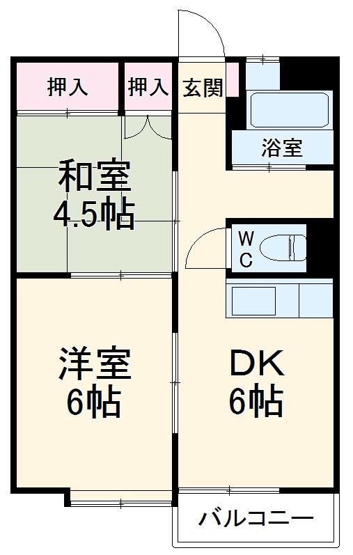 佐川コーポ 302号室の間取り