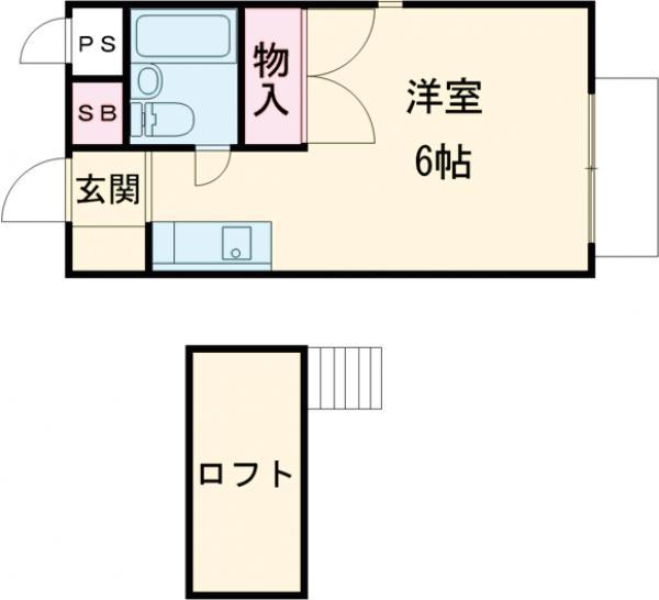 小高ハウス・206号室の間取り