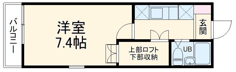 湘南ビーチハイム・201号室の間取り
