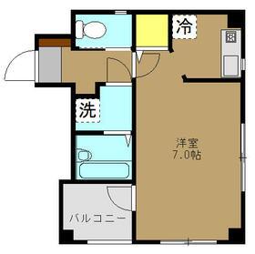 茅ヶ崎サザンビル 502号室の間取り