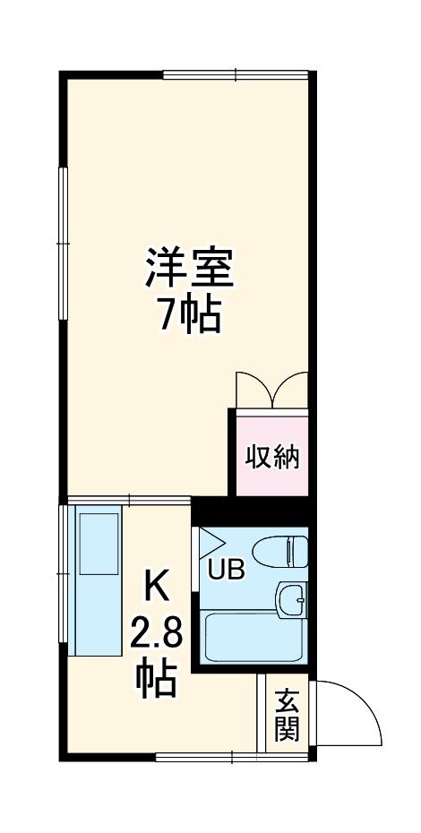 G.Oハイム江戸川台 103号室の間取り