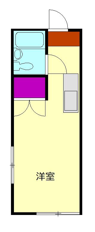 スペース松蓮寺 206号室の間取り
