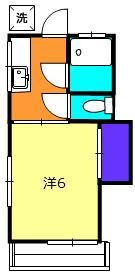 第二徳間荘 2-A号室の間取り