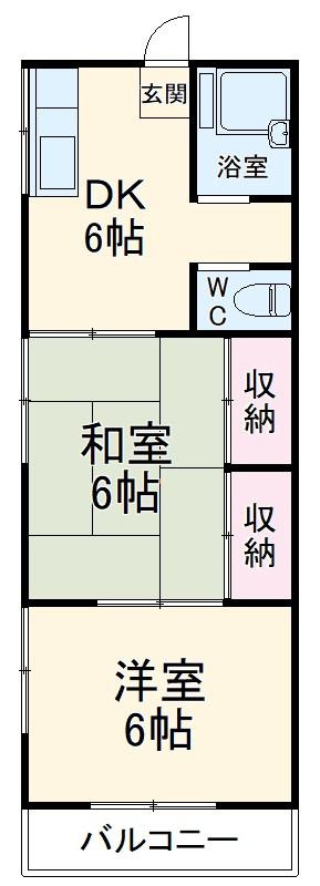 石田荘・203号室の間取り
