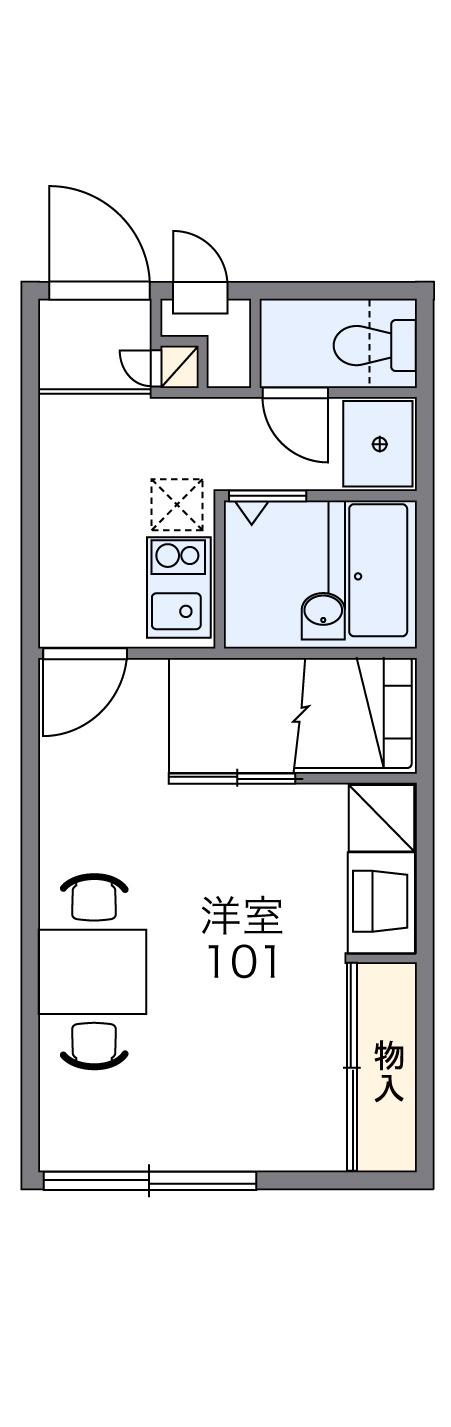 レオパレスKOTOBUKI Ⅱ・206号室の間取り