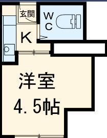 MAISON DAITO 208号室の間取り