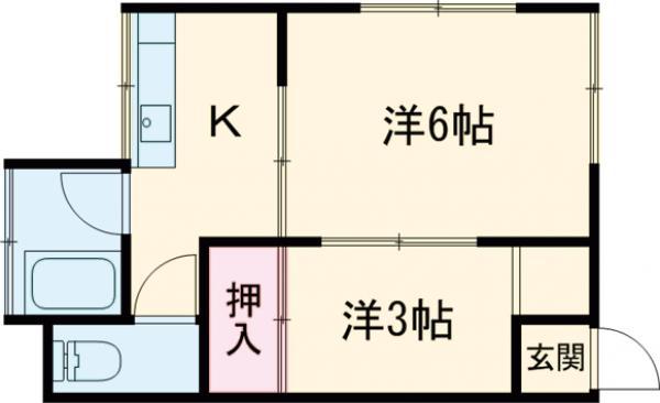 吉田荘・201号室の間取り