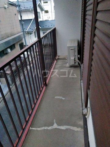 筑波荘 202号室のバルコニー