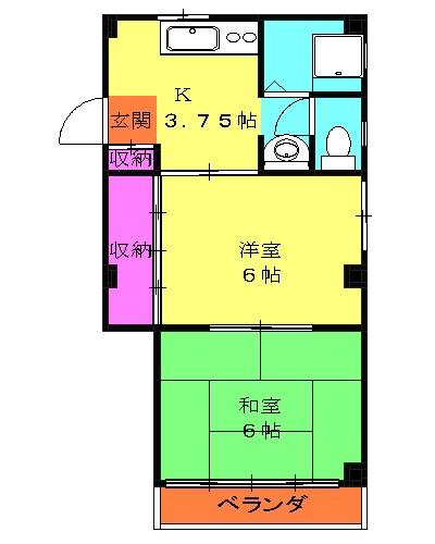 TKマンション・302号室の間取り