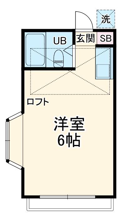 西川口コスモスパート1・101号室の間取り