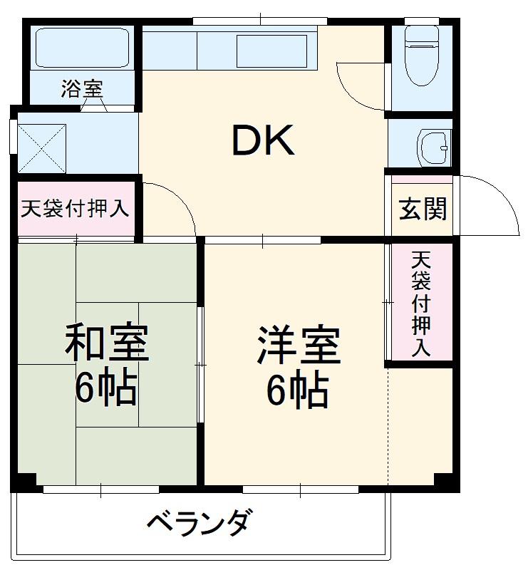 山野井ハイツ・301号室の間取り