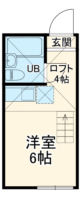 ユナイト浅田ジェシカ・ウオルター・215号室の間取り