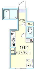 キューハイム羽田・102号室の間取り