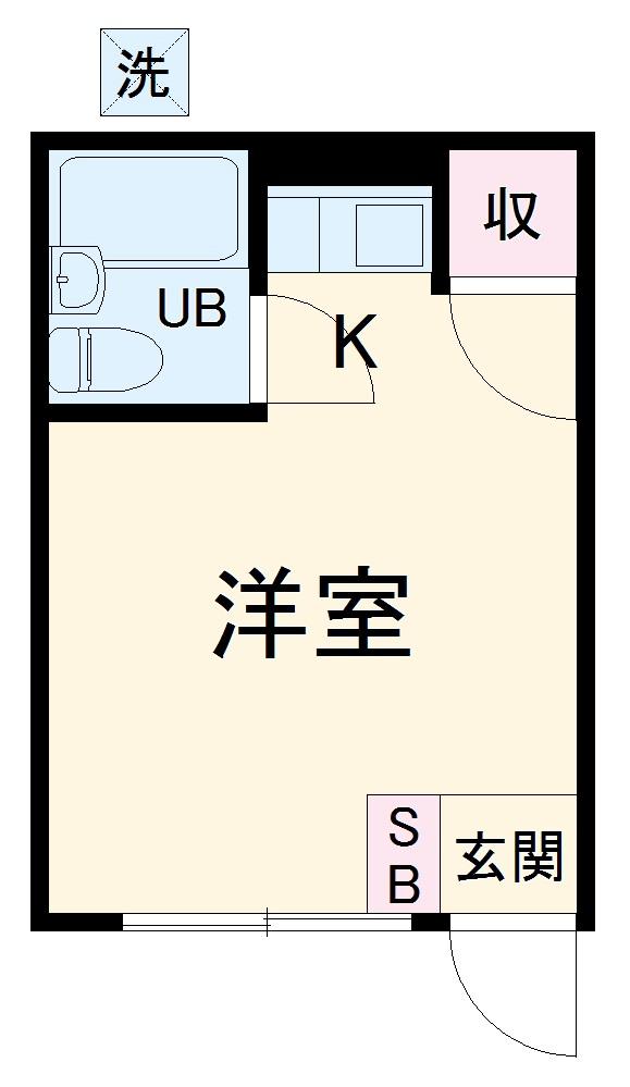 青山ハイツⅠ・102号室の間取り
