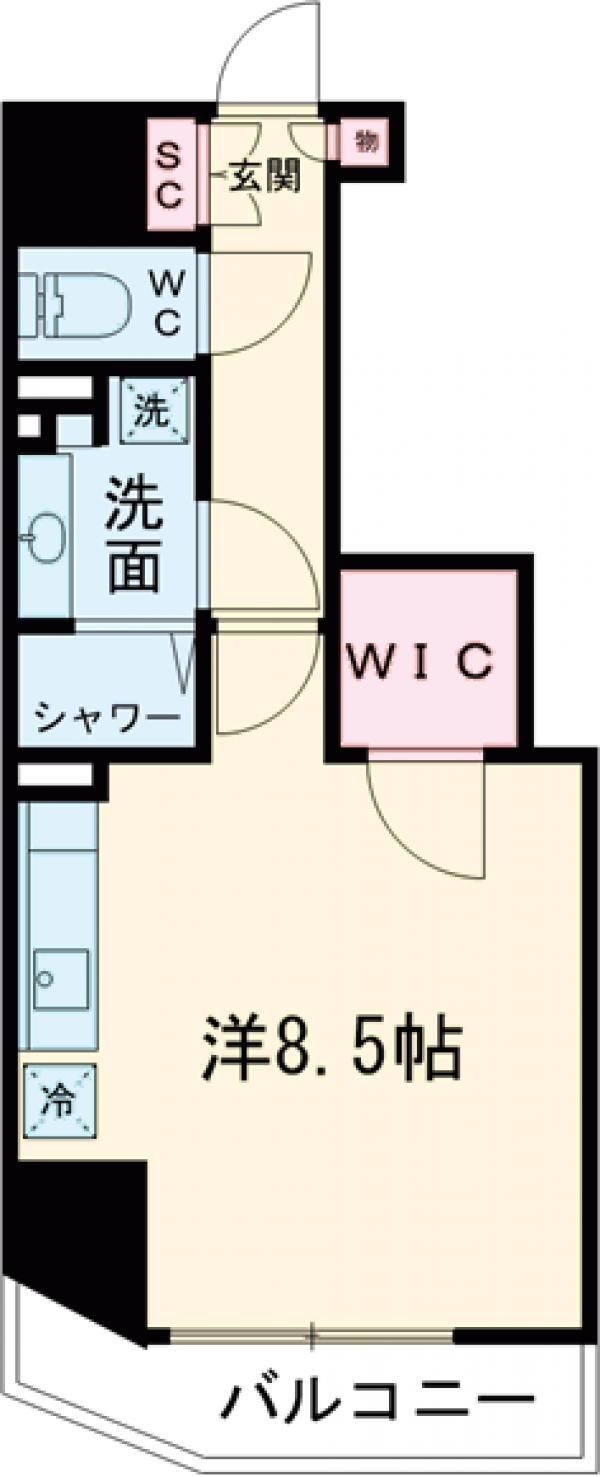 ザ・パークハビオ蒲田・1002号室の間取り