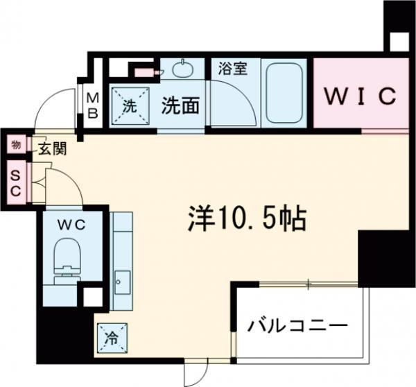 ザ・パークハビオ蒲田・1105号室の間取り