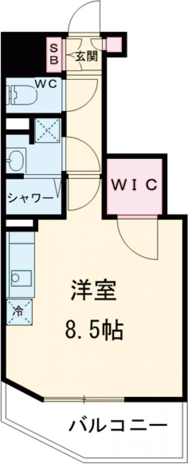 ザ・パークハビオ蒲田・202号室の間取り