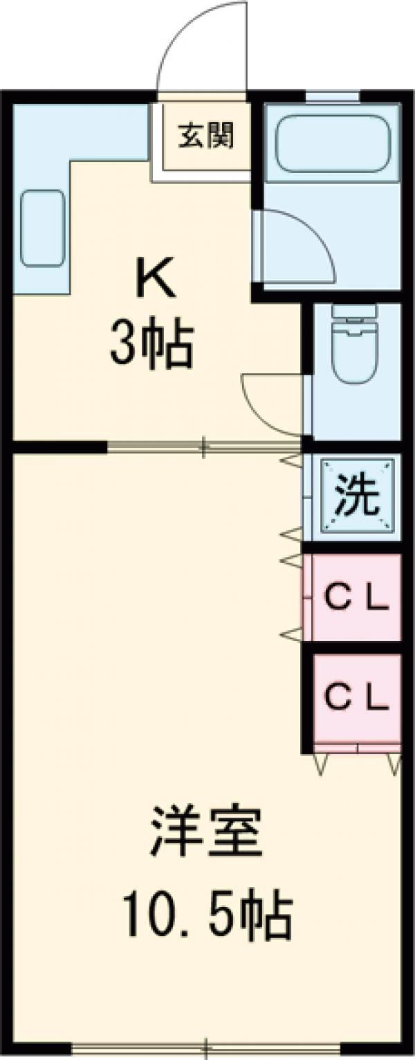 柳田マンション・303号室の間取り