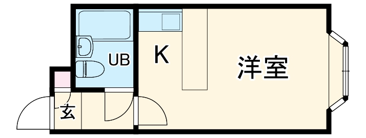ベルピア・川崎第9・202号室の間取り